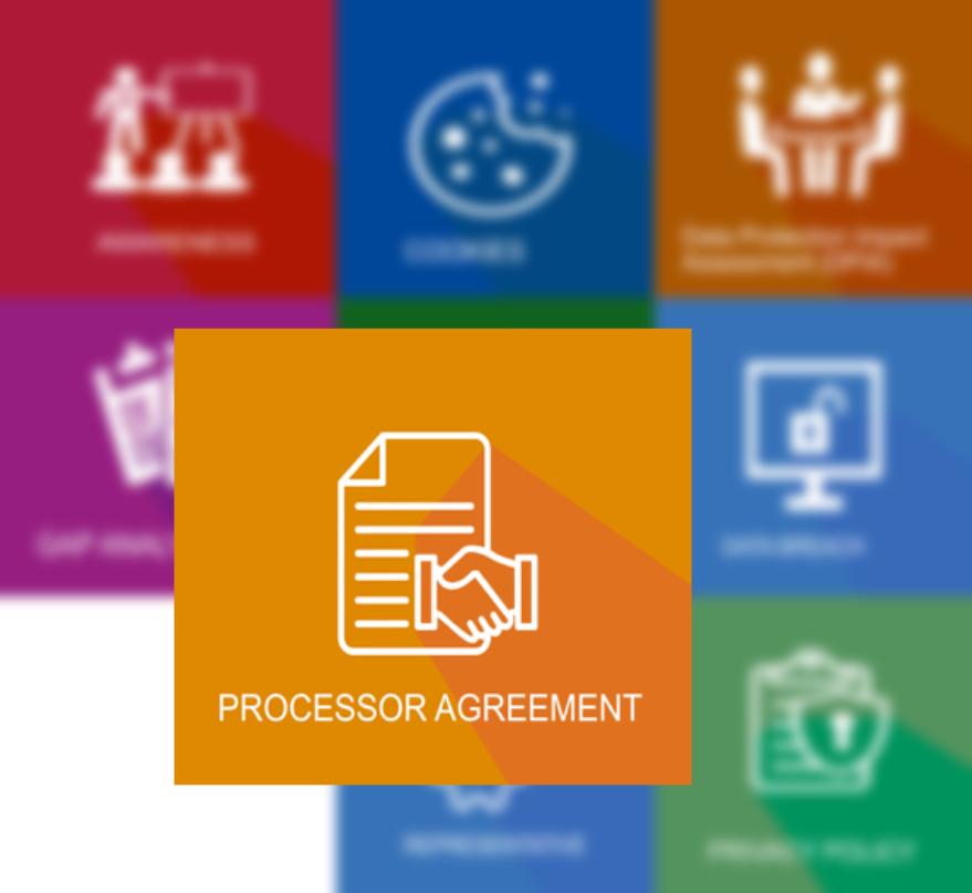 GDPR processor agreement